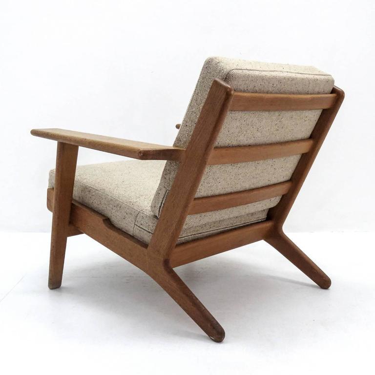Wool Hans J. Wegner GE 290 Lounge Chair For Sale