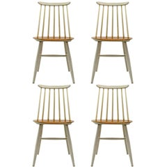 Set of Four Ilmari Tapiovaara Dining Chairs