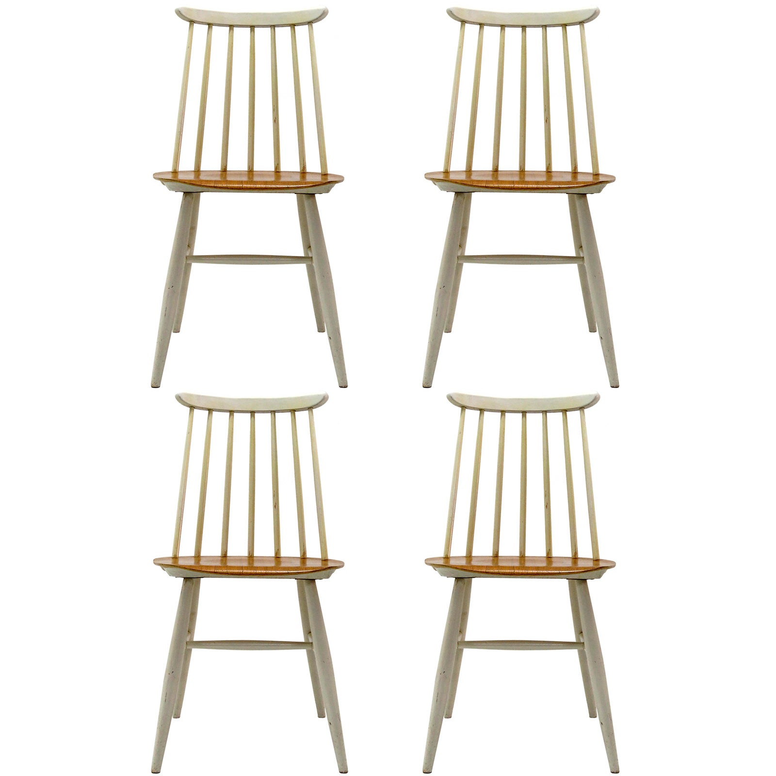 Set of Four Ilmari Tapiovaara Dining Chairs