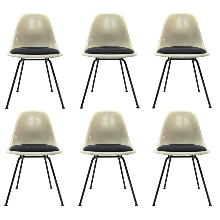 Set of Six Eames DSX Dining Chairs for Herman Miller