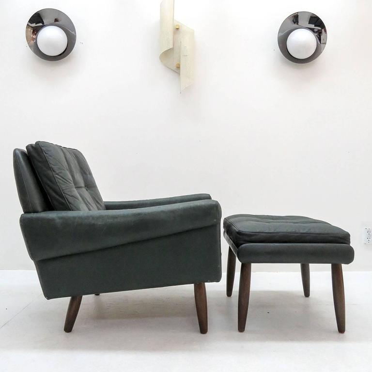 Svend Skipper Lounge Chair and Ottoman at 1stdibs