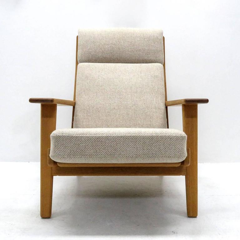 Ottomans Dakota Ottoman Box Oak Shade: Hans J. Wegner 'GE 290' High Back Chair And Ottoman At 1stdibs