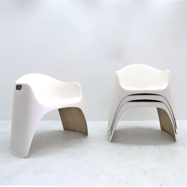 Beau Wonderful Set Of Four Outdoor Chairs, Designed By Walter Papst In 1961 And  Produced By