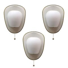 Trio of French Wall Lights