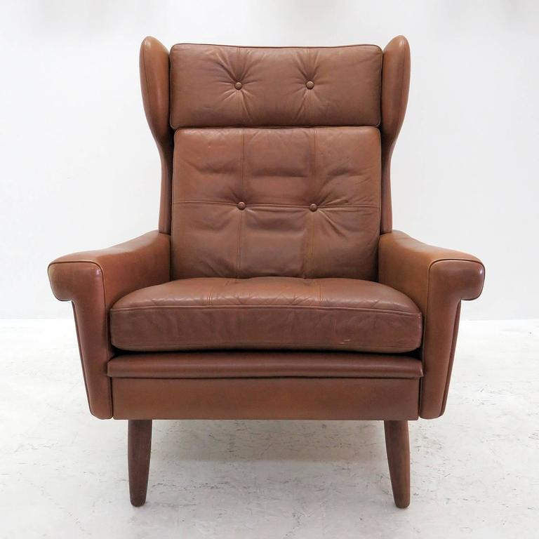 Svend Skipper Wingback Lounge Chair For Sale At 1stdibs