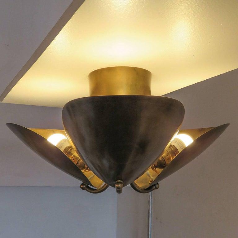 Brass Georgia Flushmount For Sale
