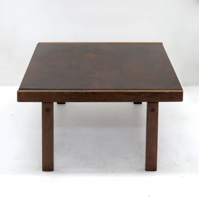 Stained Coffee Table by Torbjørn Afdal for Bruksbo, Norway, 1960 For Sale