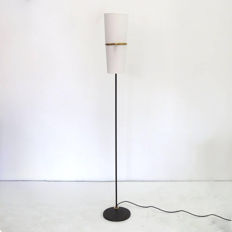 Mid-Century Modern 1950s Floor Lamp by Maison Lunel For Sale