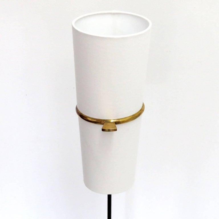 Enameled 1950s Floor Lamp by Maison Lunel For Sale