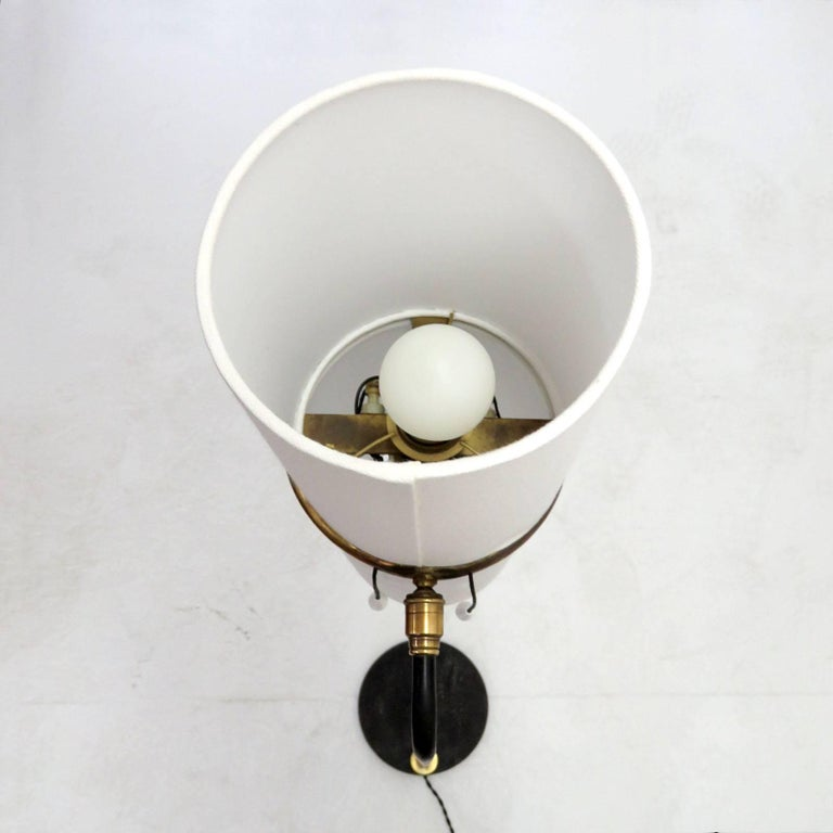 1950s Floor Lamp by Maison Lunel In Excellent Condition For Sale In Los Angeles, CA