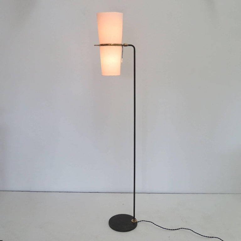 Metal 1950s Floor Lamp by Maison Lunel For Sale