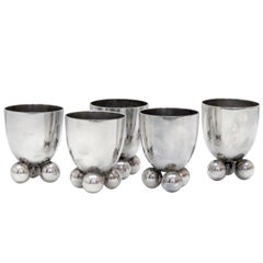 Set of Five WMF Silver Egg Cups