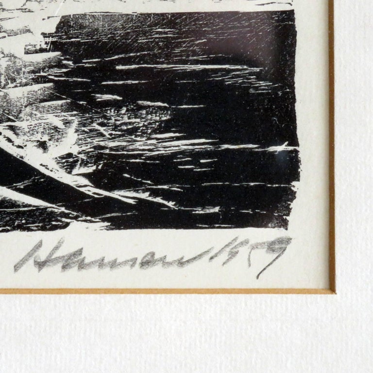 Karl Heinz Hansen-Bahia 'Ox' Woodcut Print, 1959 For Sale 2
