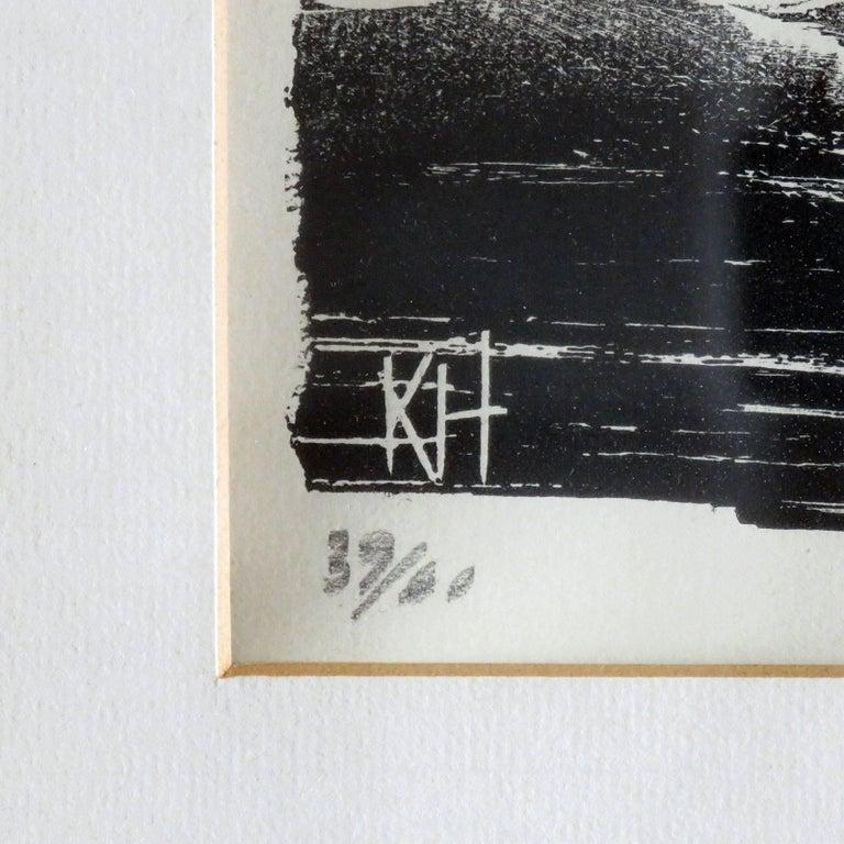 Karl Heinz Hansen-Bahia 'Ox' Woodcut Print, 1959 7