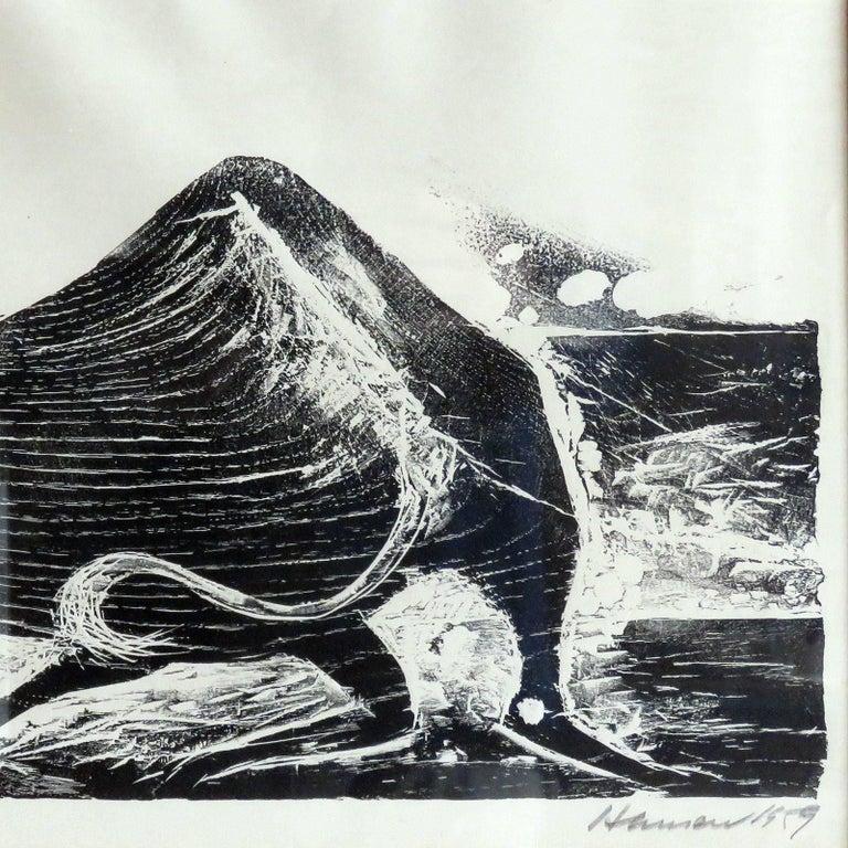 Mid-20th Century Karl Heinz Hansen-Bahia 'Ox' Woodcut Print, 1959 For Sale