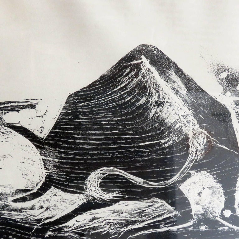 German Karl Heinz Hansen-Bahia 'Ox' Woodcut Print, 1959 For Sale
