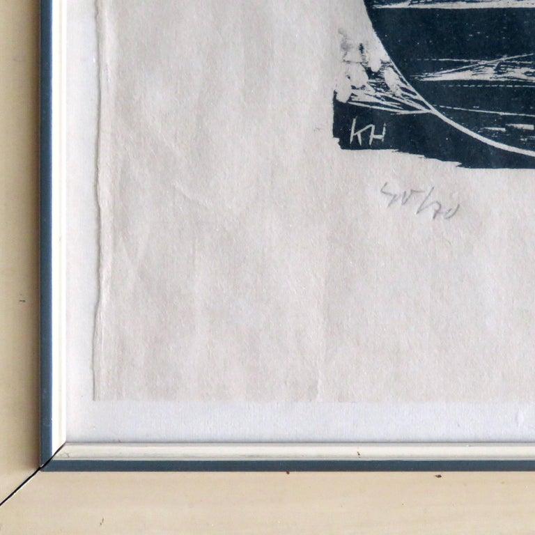 Karl Heinz Hansen-Bahia 'Big Team of Oxen' Woodcut Print, 1959 For Sale 1
