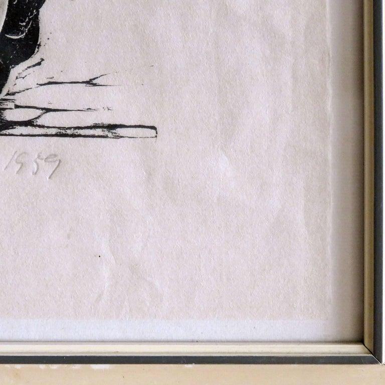 Karl Heinz Hansen-Bahia 'Big Team of Oxen' Woodcut Print, 1959 9