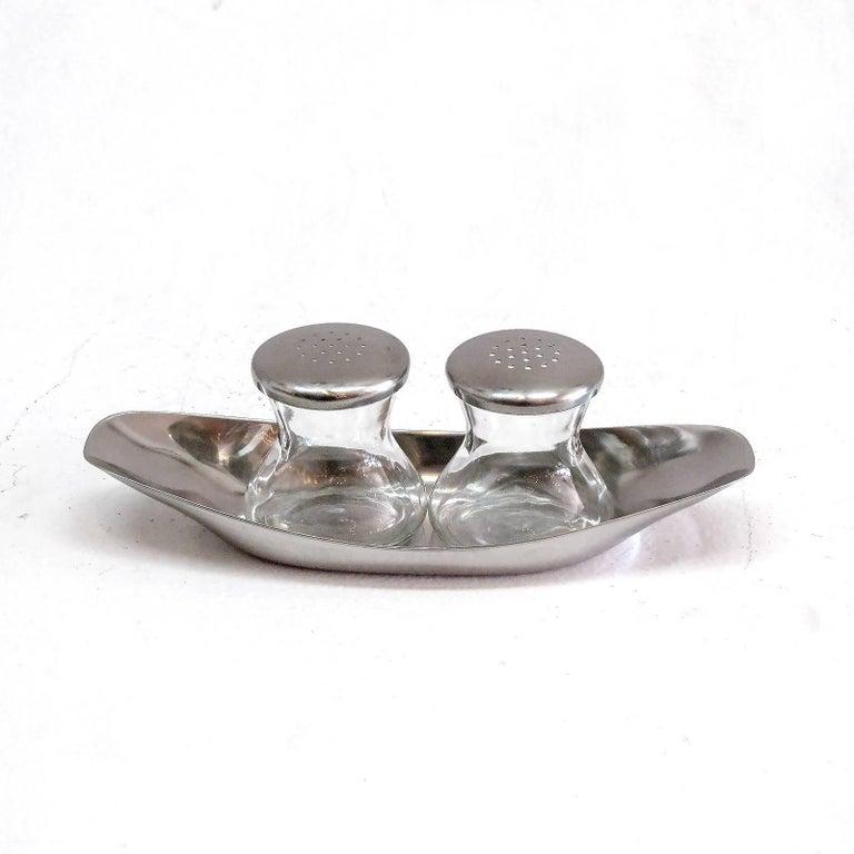 """Mid-Century Modern WMF Salt and Pepper Shaker, """"Max + Moritz"""" For Sale"""