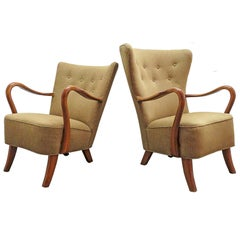 Pair of Alfred Christensen Lounge Chairs, 1940