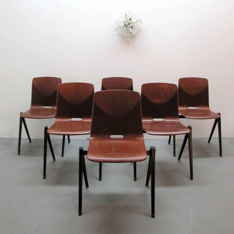 Six Dining Chairs by Galvanitas For Sale 2