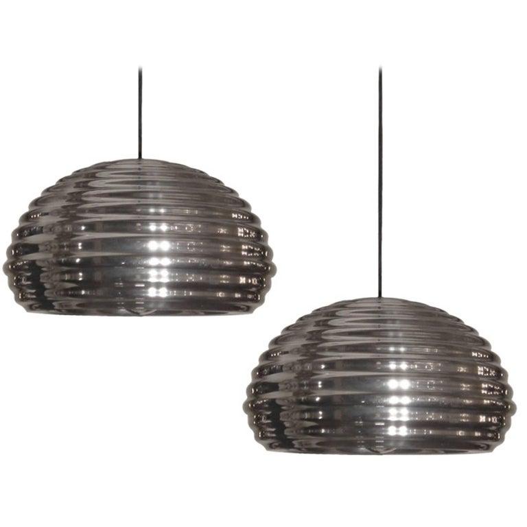 Achille Castiglioni Splügen Brau Pendant Lights For Sale