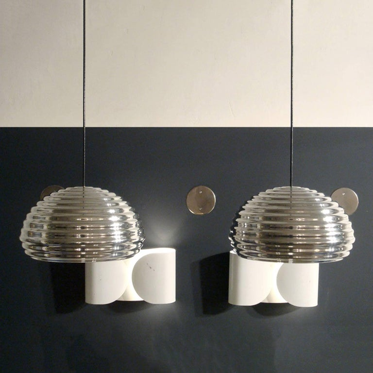 Italian Achille Castiglioni Splügen Brau Pendant Lights For Sale