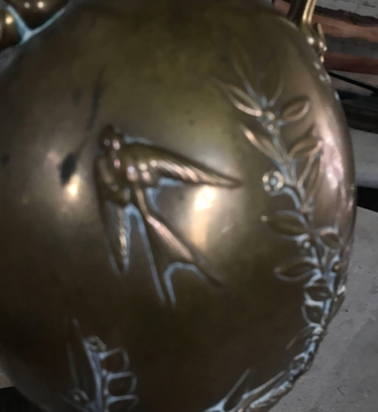 19th Century French Brass Barbedienne Lamp Designed by Henry Cahieux For Sale 2