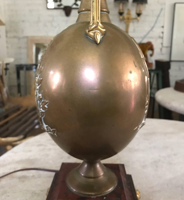 19th Century French Brass Barbedienne Lamp Designed by Henry Cahieux For Sale 13