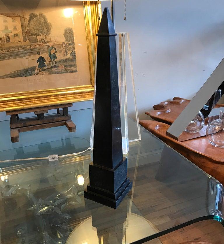 Italian Nero Antico Marble Grand Tour Obelisk For Sale 9