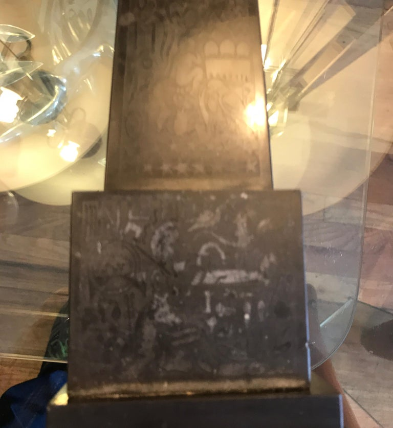 Italian Nero Antico Marble Grand Tour Obelisk For Sale 11