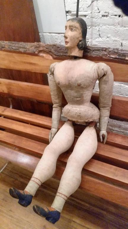 19th Century Italian Articulated Rod Puppet Sculpture For Sale