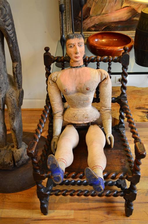 Italian Articulated Rod Puppet Sculpture In Good Condition For Sale In Chicago, IL