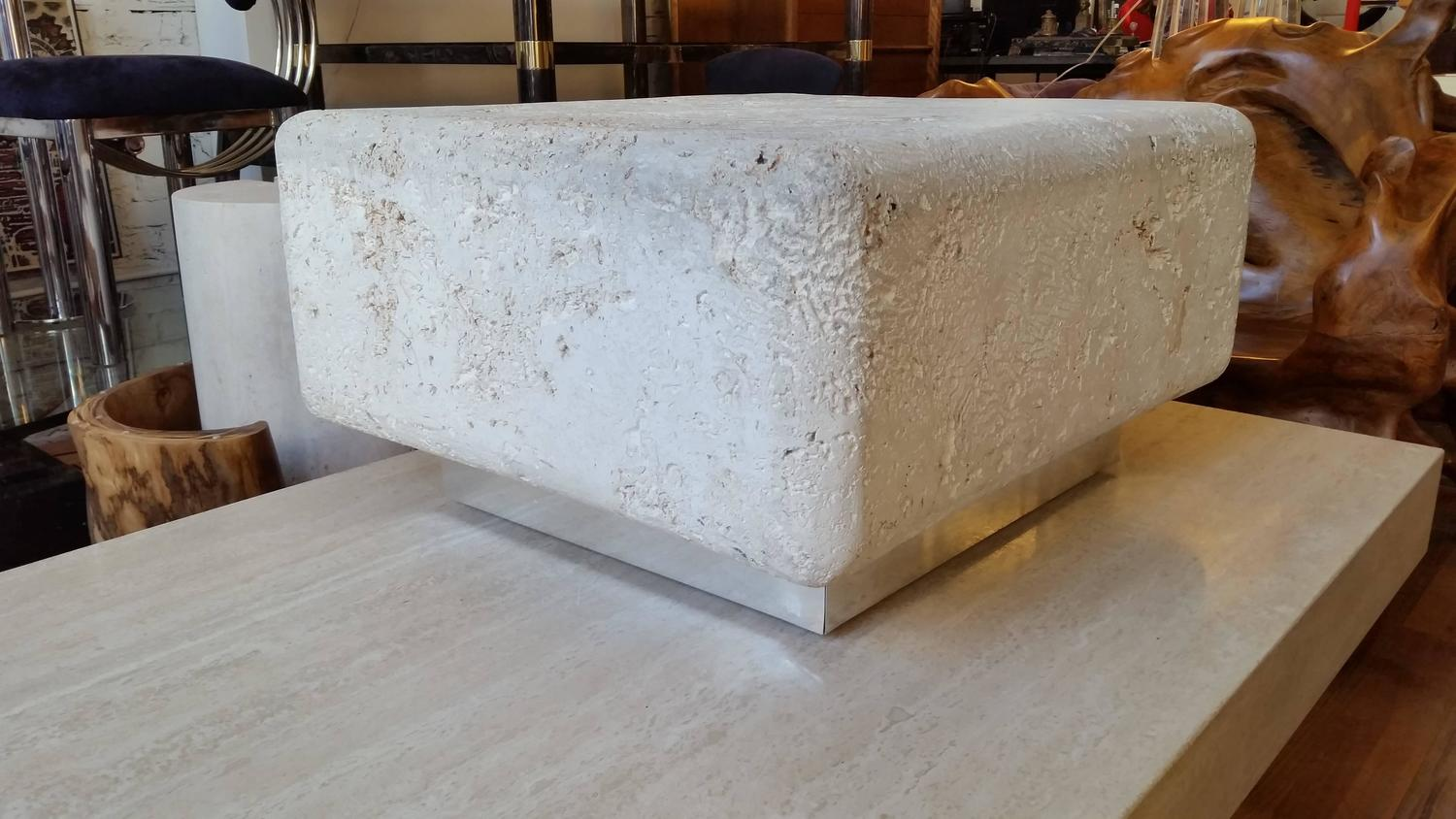 Natural Coral Stone Fossilized Coffee Table At 1stdibs