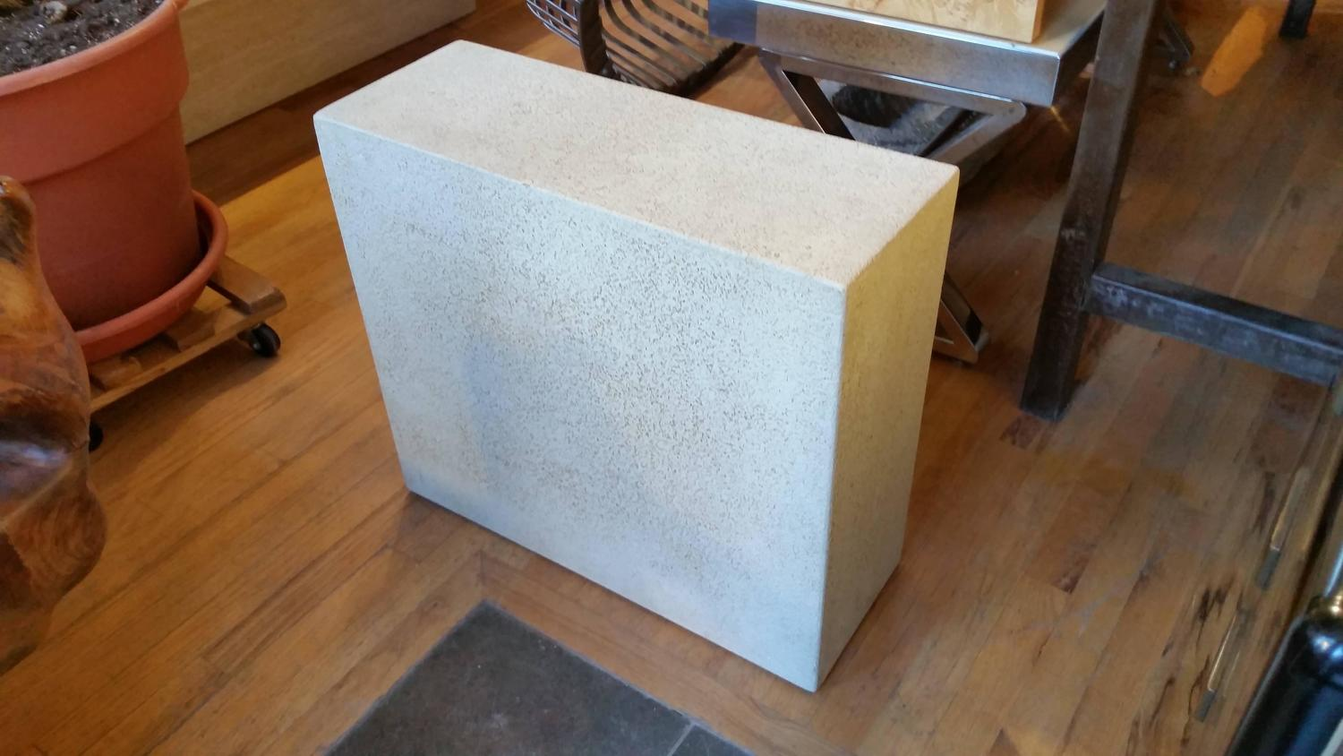 Faux Concrete Ocassional Side Table For Sale At 1stdibs