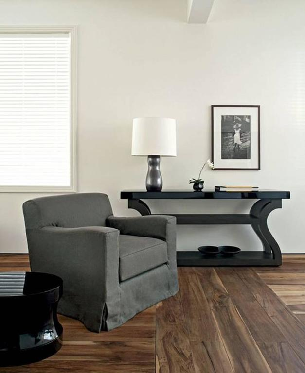 Pair of Christian Liaigre Lounge Chairs with Ottomans 7