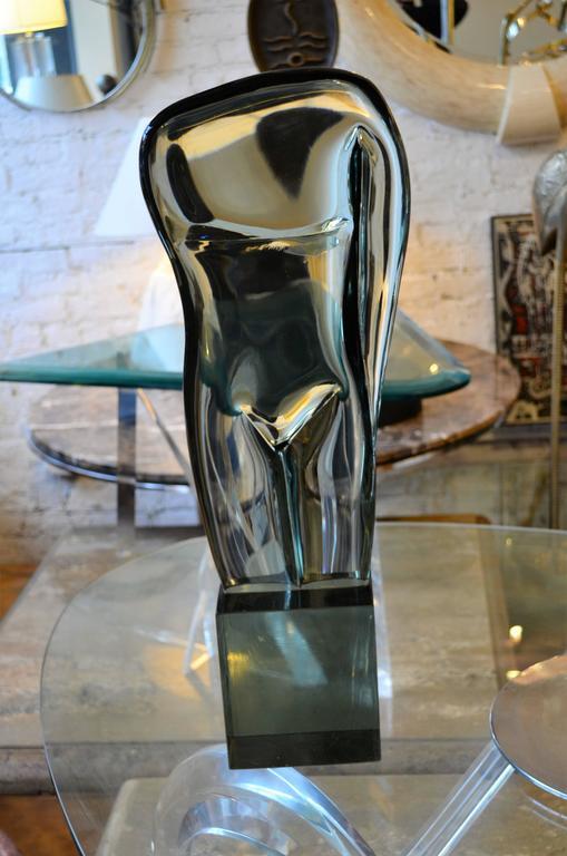 Italian Large Abstract Figural Loredano Rosini Murano Glass Torso Sculpture For Sale