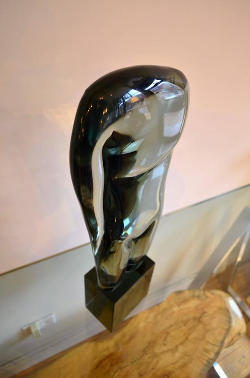 Large Abstract Figural Loredano Rosini Murano Glass Torso Sculpture For Sale 2