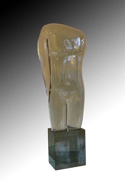 Large Abstract Figural Loredano Rosini Murano Glass Torso Sculpture For Sale 3