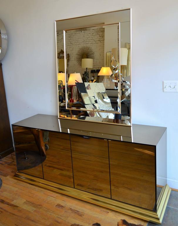 Mirrored Ello Credenza For Sale 1