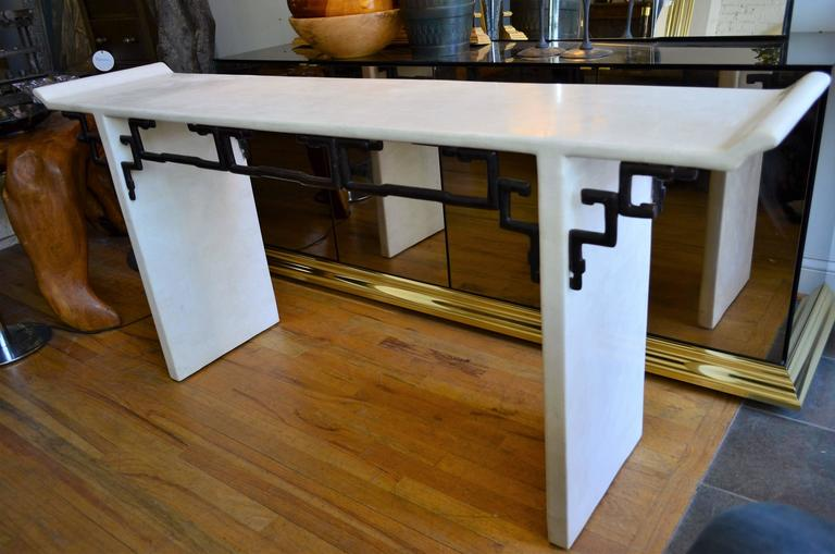 Asian style maitland smith console table for sale at stdibs