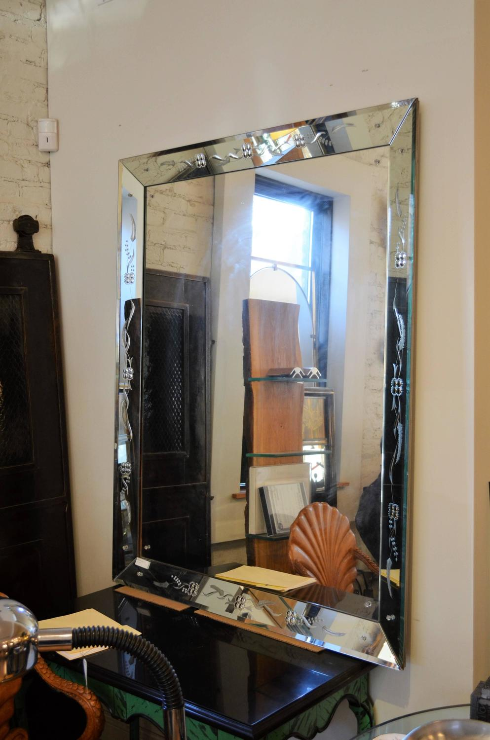 Large Venetian Style Mirror For Sale at 1stdibs