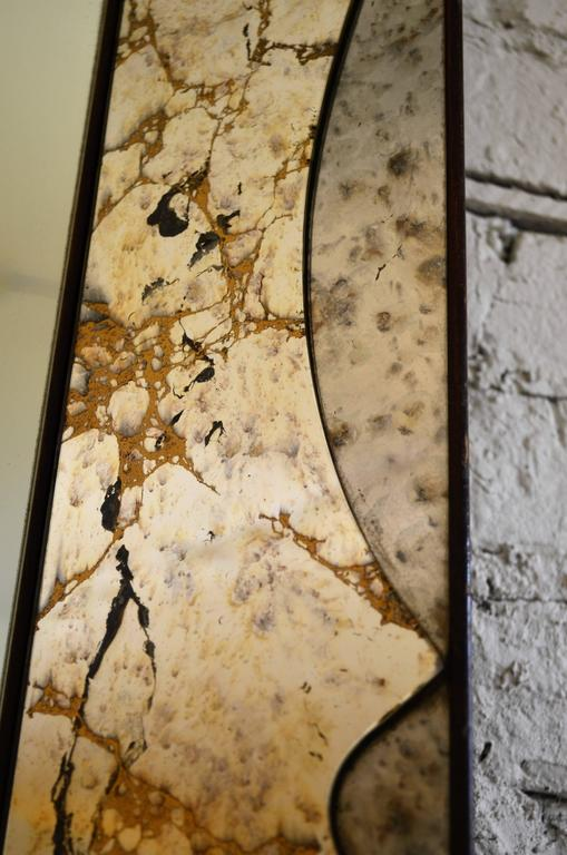 Monumental Venetian Style Smoked Glass Mirror In Good Condition For Sale In Chicago, IL