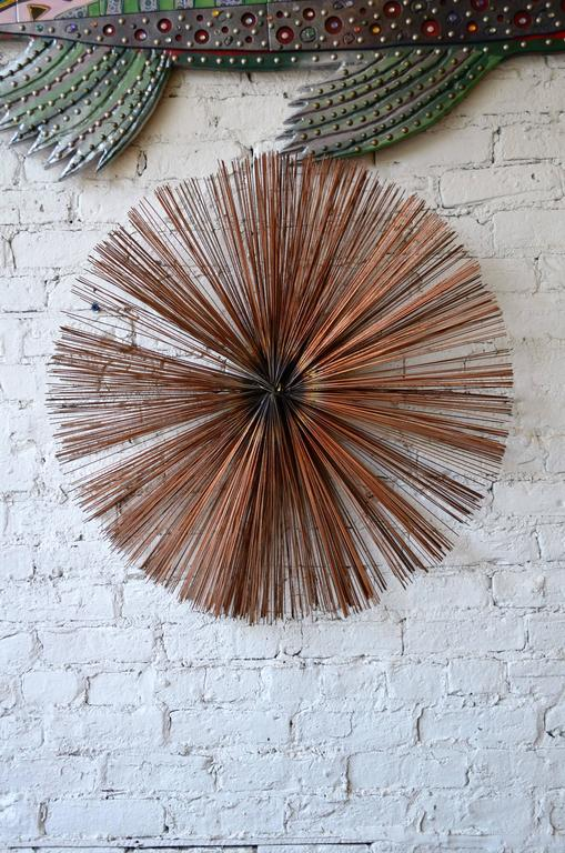 Exceptional Starburst Wall Sculpture In Good Condition For Sale In Chicago, IL