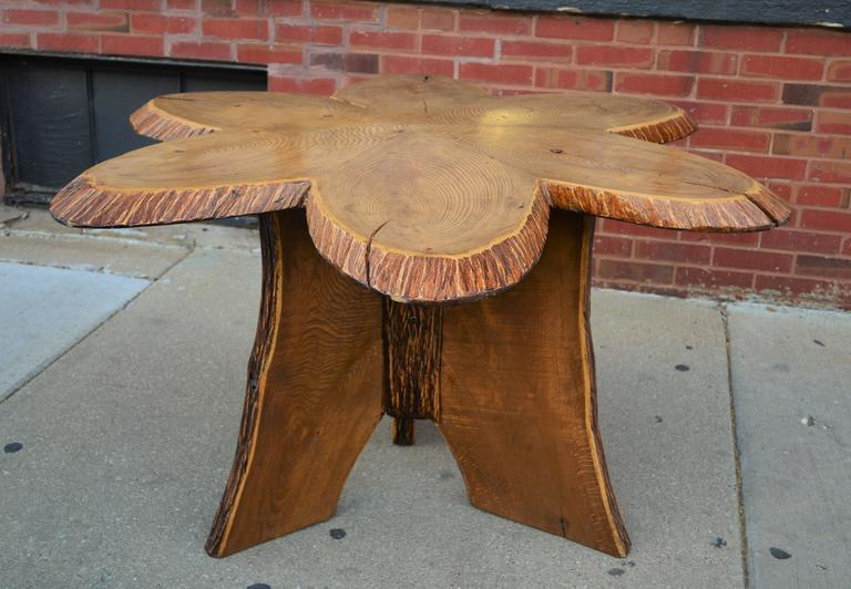 Oak Andirondack Table For Sale 1