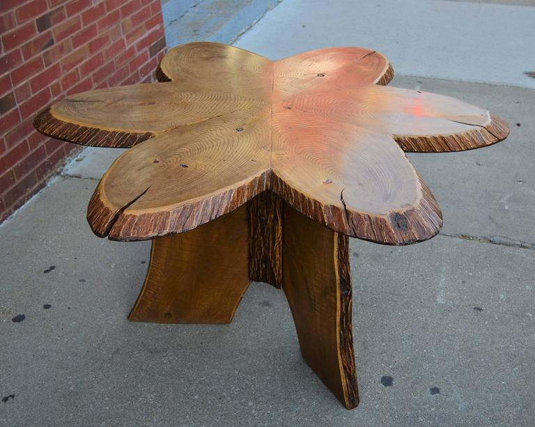 20th Century Oak Andirondack Table For Sale