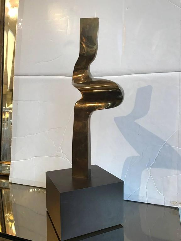 Abstract Bronze Sculpture by Joseph A. Burlini In Good Condition For Sale In Chicago, IL