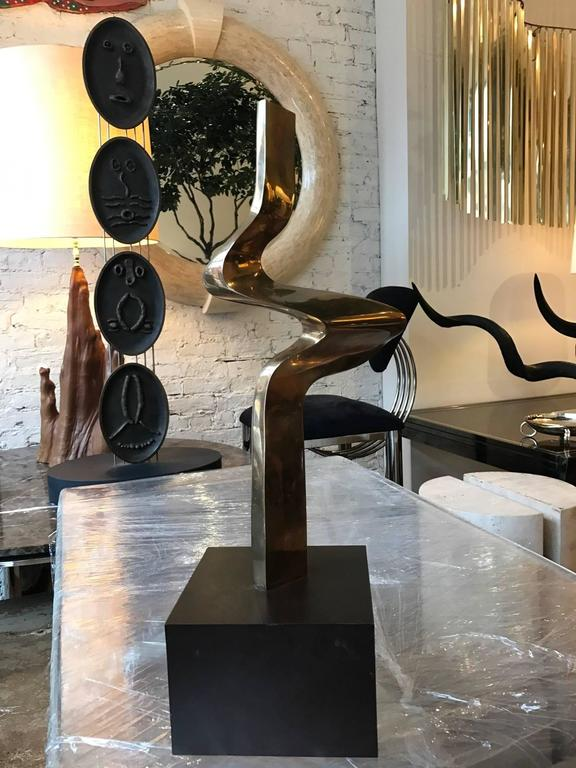 Late 20th Century Abstract Bronze Sculpture by Joseph A. Burlini For Sale