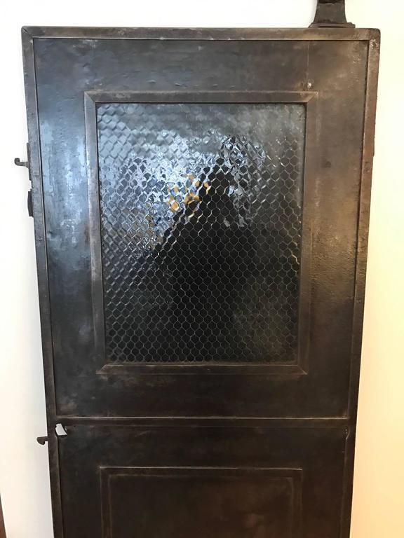 Industrial metal fire door at 1stdibs - 28 inch exterior steel door for sale ...