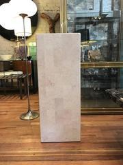 Tessolated Stone Large Pedestal in the manner of Karl Springer